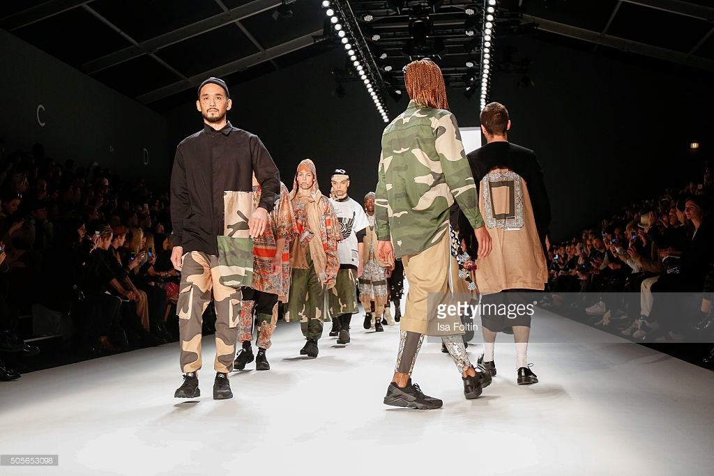 BERLIN, GERMANY - JANUARY 19: Models walk the runway at the Sadak Show - Mercedes-Benz Fashion Week Berlin Autumn/Winter 2016 on January 19, 2016 in Berlin, Germany. (Photo by Isa Foltin/WireImage)