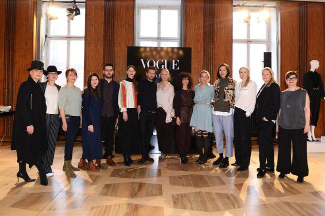 Gruppenbild Teilnehmer des VOGUE Salon 2017 mit Christiane Arp
